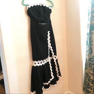 Hot Miami Styles Strapless Flamenco Style Dress